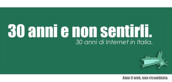 30 anni e non sentirli, Internet Day in Italia.